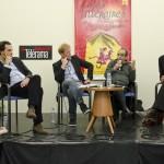 """Table ronde""""La littérature révèle-t-elle l'histoire?"""" anim??e par Yann Nicol avec Oliver Rohe, Abdelkader Djemaï et Velibor Colic. Hôtel de Ville."""