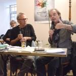 Yvon Lemen interviewé par Christian Liotard, Aubignas, salle Le Préau