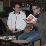 Cafés littéraires Montélimar 15 e édition-Fabrice Colin interviewéˆ par Stéˆphane Manfredo. Brasserie du Parc