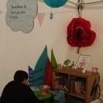 Tente de lecture. Village des Cafés