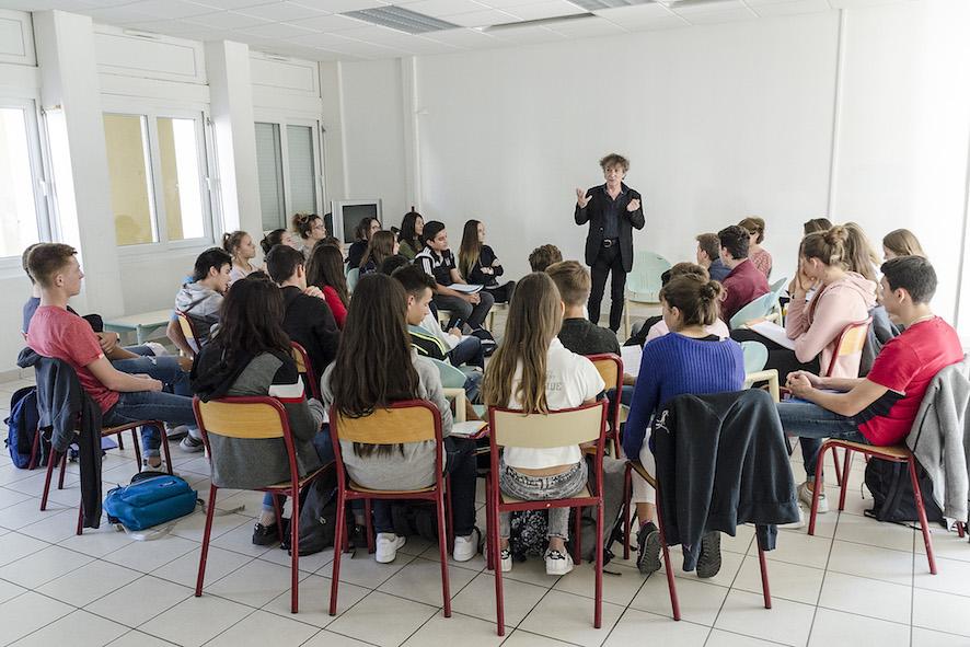Hubert Haddad, Lycée Alain Borne