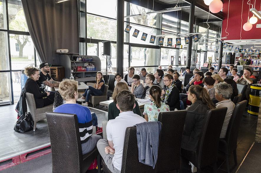 Marie Chartres & Benoît Minville au Old School Café - Médiation Comité Ados des Cafés