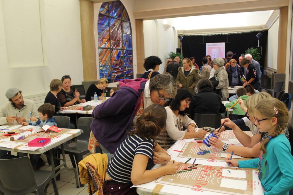 Rencontre / atelier avec Joanna Concejo au Salon d'Honneur - Médiation Cécile Moulain © D.R.