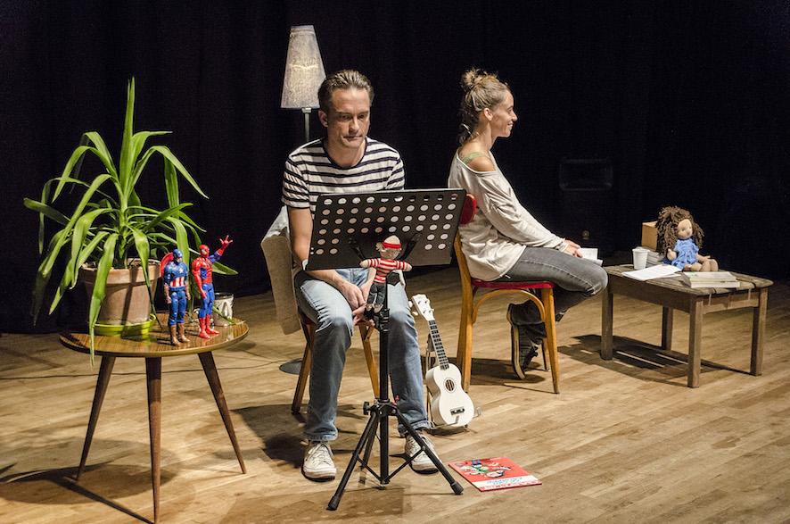 Lecture de correspondance au Calepin Théâtre avec Christophe Pardon et Anne Mino