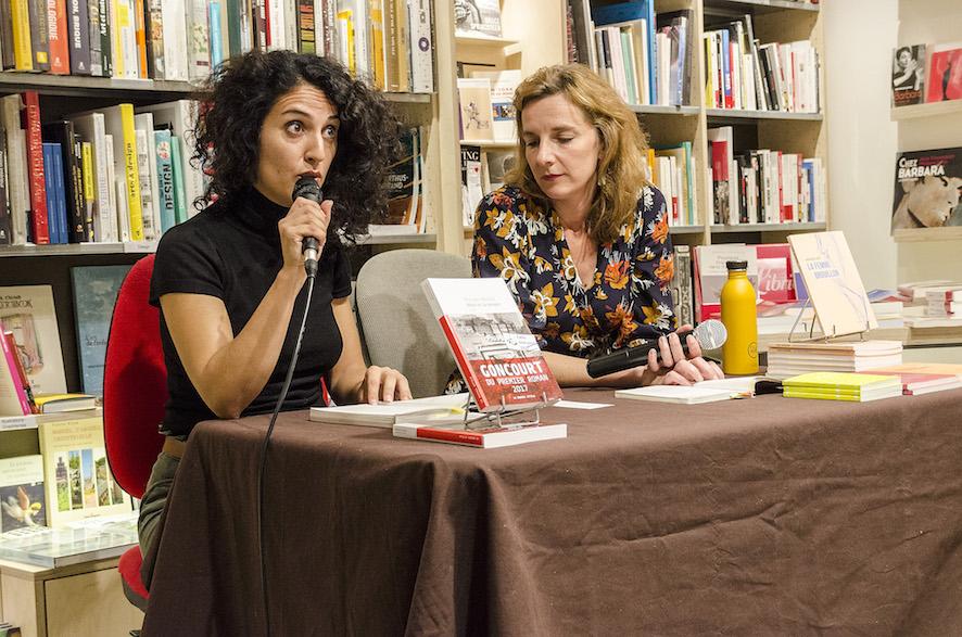 Maryam Madjidi et Amandine Dhée à La Nouvelle Librairie Baume © Libres Regards