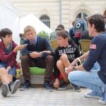Village des Cafés - Les Petits reporters en interview avec Alexandre Chardin © D.R.