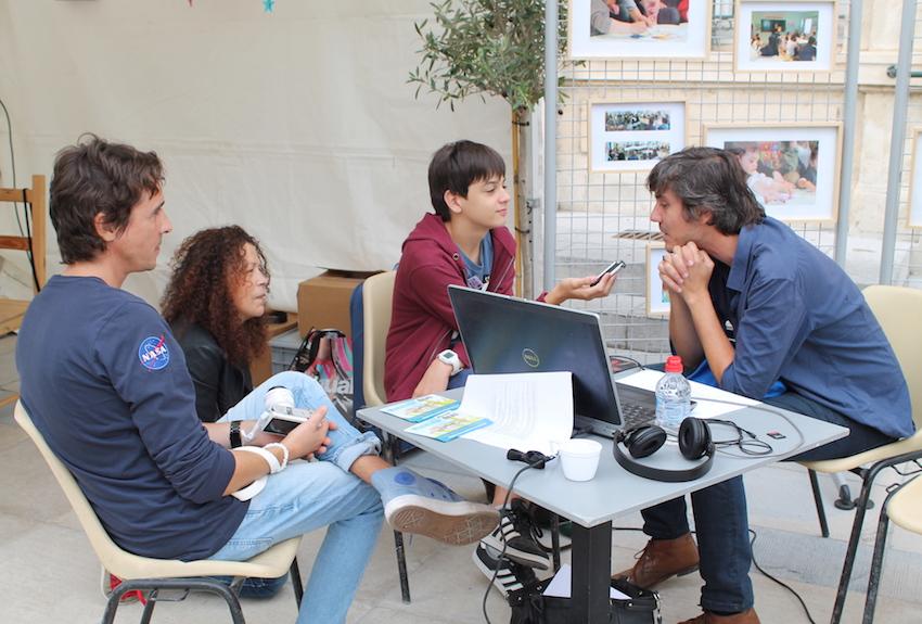 Les Petits reporters en interview avec Sylvain Prudhomme