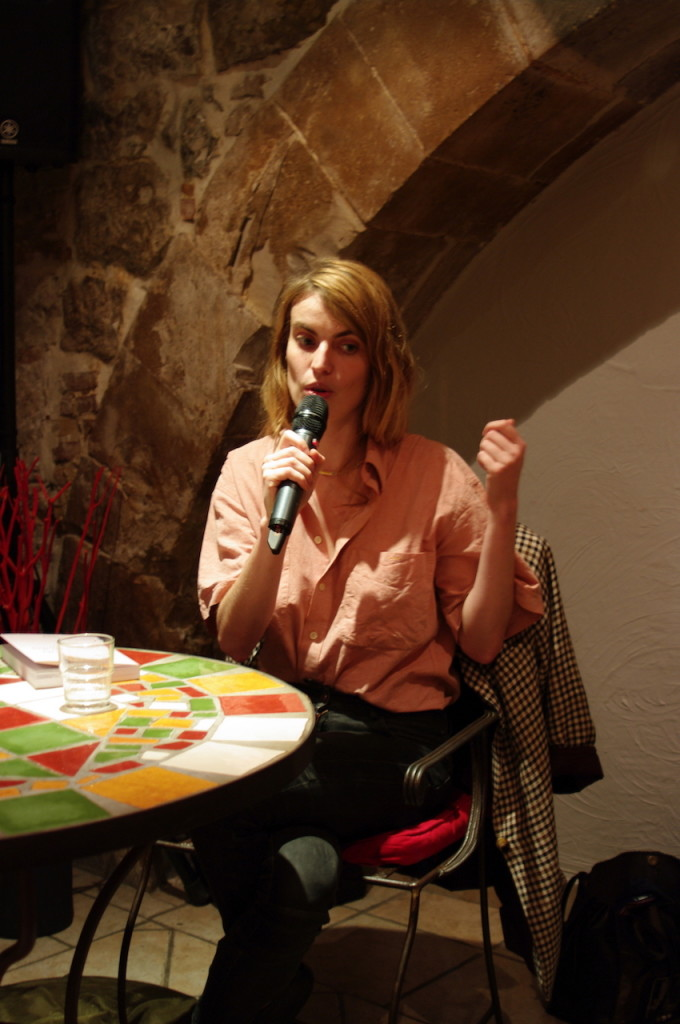 Blondine Rinkel au Café des Clercs - Médiation Yann Nicol
