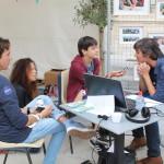 Village des Cafés - Les Petits reporters en interview avec Sylvain Prudhomme © D.R.