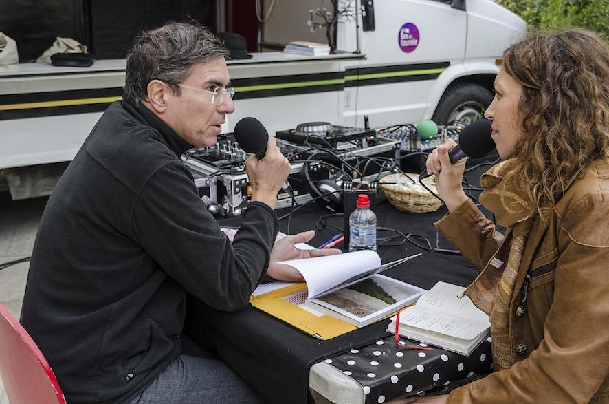 Village des Cafés - Plateau Radio M avec Olivier Domerg © D.R.