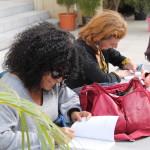 Samira Sedira et Amandine Dhée en signature © D.R.