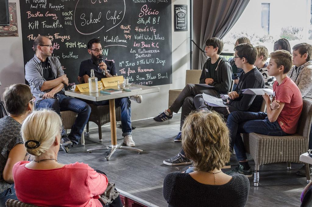 Eric Plamondon et Thomas Vinau au Old School Café