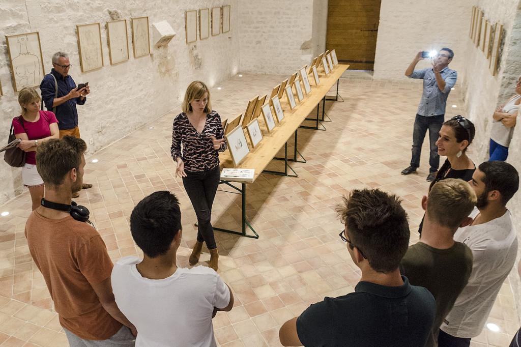 Marion Fayolle au Château des Adhémar - rencontre/visite scolaire